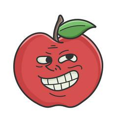 Trolling meme red apple cartoon apple vector