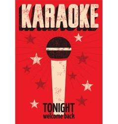 Typographic retro grunge karaoke poster vector