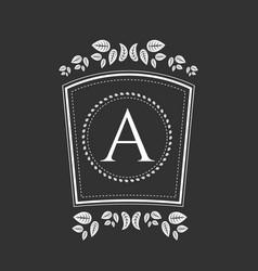 vintage monogram or vignette vector image