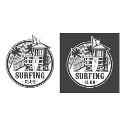 vintage surfing club house label vector image