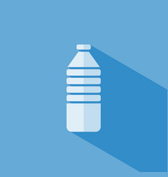 water bottle icon on blue background vector image