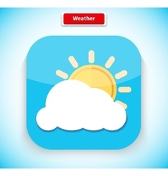 Weather App Icon Flat Style Design vector image