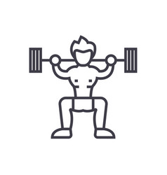 weightlifter concept thin line icon symbo vector image