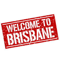 Welcome to brisbane stamp vector