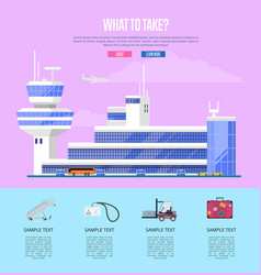 what to take concept for commercial airline vector image