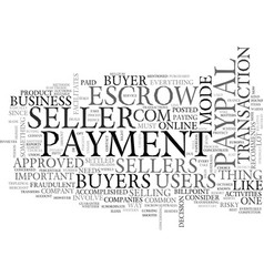 when payment matters text word cloud concept vector image