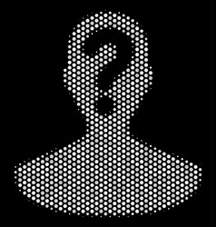 white pixelated unknown person icon vector image