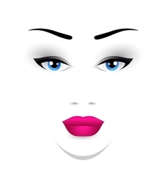 Woman face makeup vector