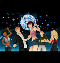 young people partying vector image