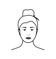 young woman sad or unhappy expression vector image