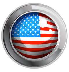 america flag on round icon vector image vector image