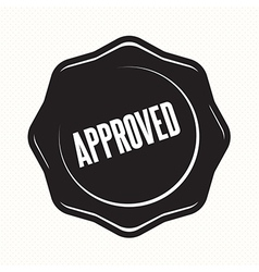 Approved retro vintage badges vector image