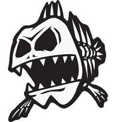 bad bone fish vector image