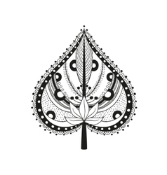coloring adult ethnic leaf vector image