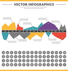 infographics and design elements with icon set for vector image