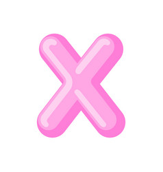 letter x candy font caramel alphabet lollipop vector image