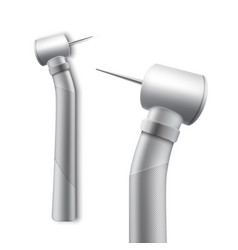 stainless dental drill vector image vector image