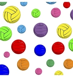 The pattern of color volleyball balls vector image