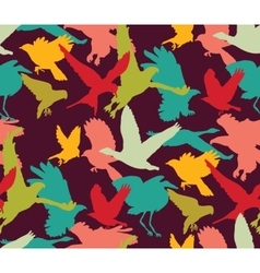 Birds bright abstract ornament color seamless vector image vector image