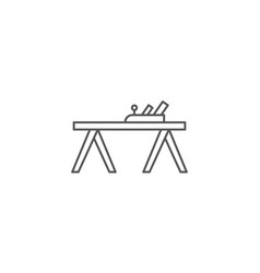 carpenters plane icon in linear style vector image vector image