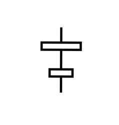 center column alignment icon vector image
