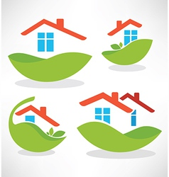 eco homes vector image vector image