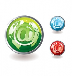 email icon world concept vector image