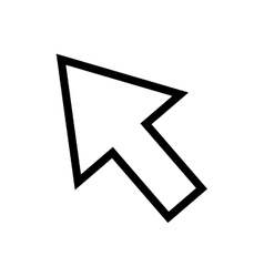 Isolated click cursor vector image
