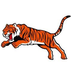 jumping tiger vector image