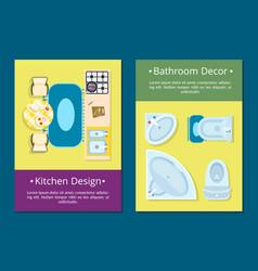kitchen design bathroom decor vector image vector image