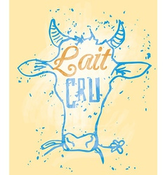 Raw Milk in French vector image vector image