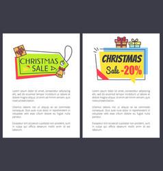 christmas sale -20 off set vector image