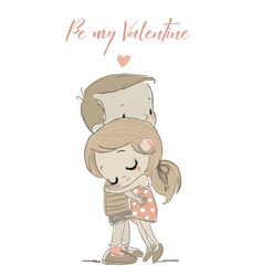 cute couple in love vector image