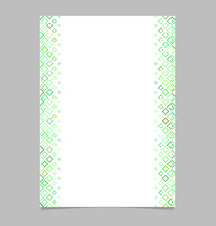 green diagonal square pattern page template vector image vector image