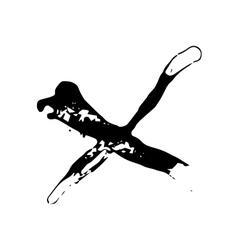 Grunge ink spot shape x vector