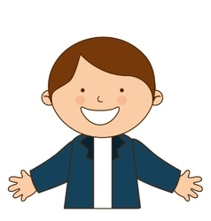 happy boy student uniform isolated vector image