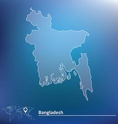 Map of Bangladesh vector image