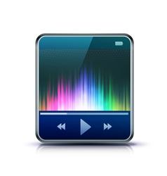 media player icon vector image