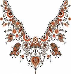 paisley design vector image vector image