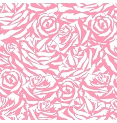 Seamless pattern with pink roses Fashion natural vector image