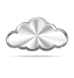 Silver Cloud Icon vector image vector image