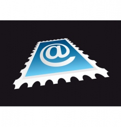 email stamp perspective vector image vector image
