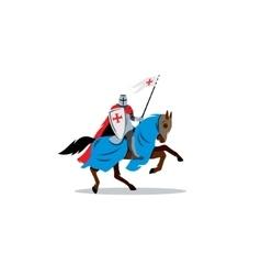 Medieval knight on horseback preparing for joust vector image vector image