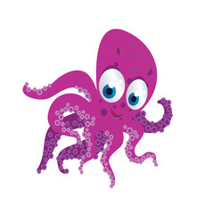 octopus cartoon vector image