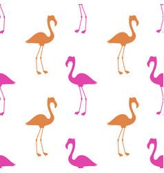 pink flamingo seamless pattern vector image vector image