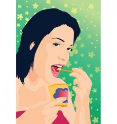 tasty treat vector image vector image