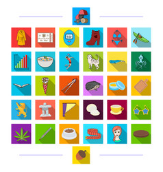 Textiles history shoes and other web icon in vector