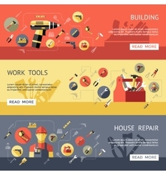 Work Tools Banner Set vector image vector image