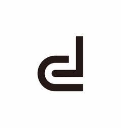 Abstract letter dl simple geometric line symbol vector