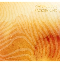 Abstract orange watercolor background with animal vector